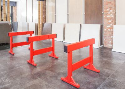 Holzböcke für Schneidetisch von Seybert
